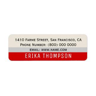 modern basic simple address label with stripes