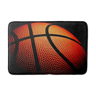 Modern Basketball Sport Ball Skin Texture Pattern Bathroom Mat