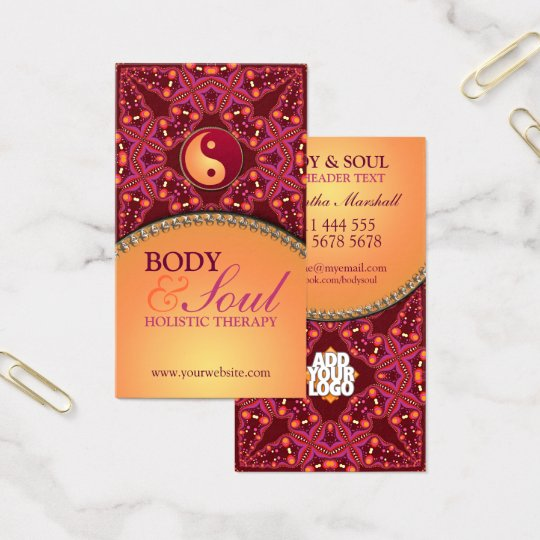 Modern Batik  New Age Holistic Business Card