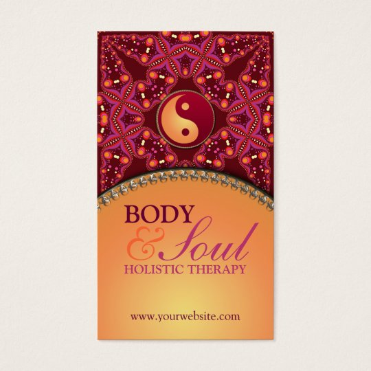 Modern Batik  New Age Holistic Business Card