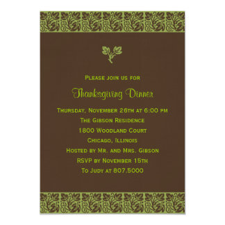 Modern Batik Thanksgiving/Holiday Party Invitation