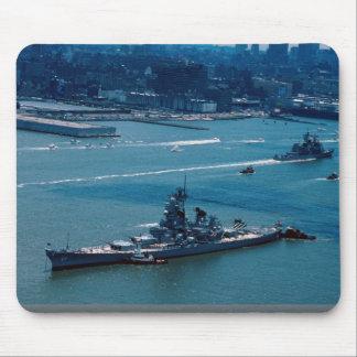 "Modern battleship, ""USS Wisconsin"", New York, U.S. Mouse Pad"