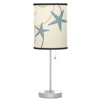 Modern Beach House Decor Starfish Sand Dollar Table Lamp