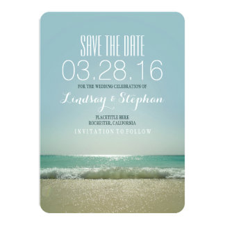 "Modern beach wedding save the date cards 4.5"" x 6.25"" invitation card"