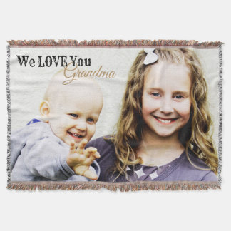 Modern Beautiful Photo Blanket for Grandma