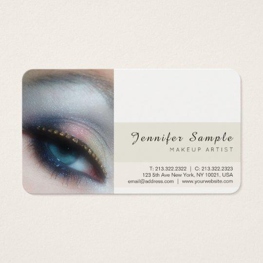 Modern Beauty Salon Makeup Artist Premium Silk Business Card
