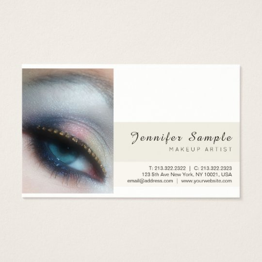 Modern Beauty Salon Makeup Artist Premium Silk Business Card