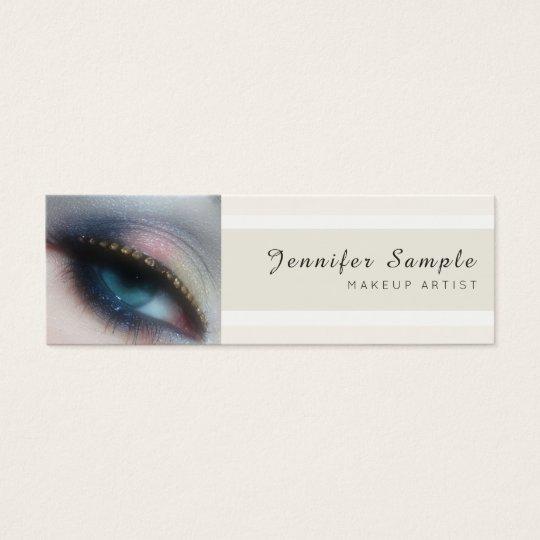 Modern Beauty Salon Makeup Artist Premium Silk Mini Business Card