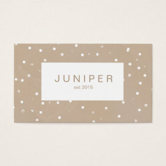 Modern Beige Natural Polka Dots Business Card