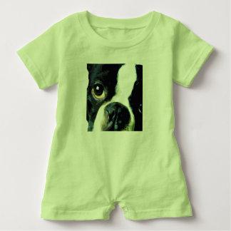 modern big Boston Terrier Baby Romper