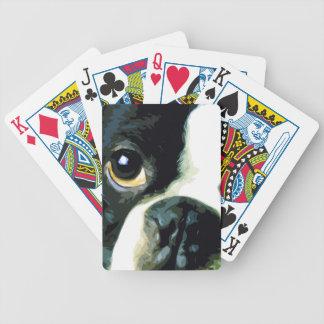 modern big Boston Terrier Bicycle Playing Cards