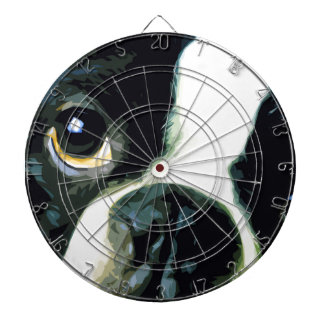 modern big Boston Terrier Dartboard
