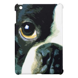 modern big Boston Terrier iPad Mini Cover