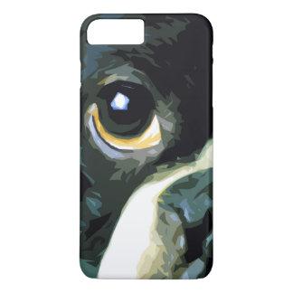 modern big Boston Terrier iPhone 8 Plus/7 Plus Case