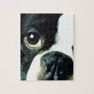 modern big Boston Terrier Jigsaw Puzzle