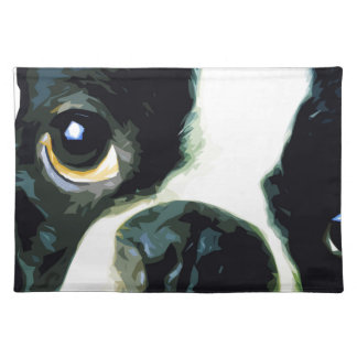 modern big Boston Terrier Placemat