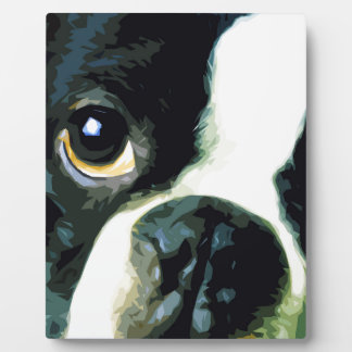modern big Boston Terrier Plaque