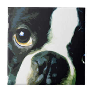 modern big Boston Terrier Tile