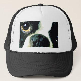 modern big Boston Terrier Trucker Hat