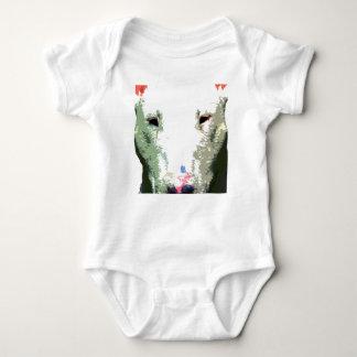 modern big Bull Terrier Baby Bodysuit
