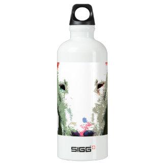 modern big Bull Terrier Water Bottle