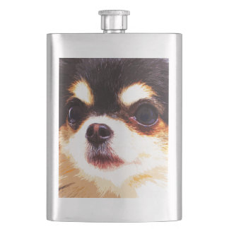 modern big Chihuahua Hip Flask