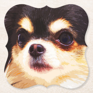 modern big Chihuahua Paper Coaster