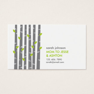 Modern Birch in Grass Mommy Calling Card