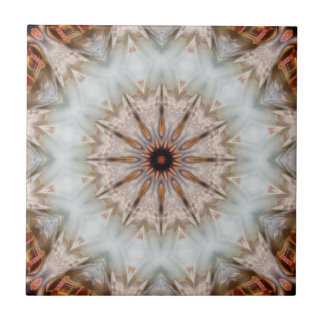 Modern Bird Feather Geometric Star Pattern Tile