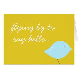 Modern Bird Note Card