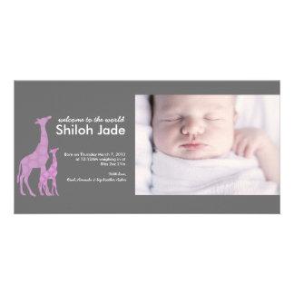 Modern Birth Announcement | No. 16 Photo Card