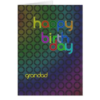 Modern Birthday card for grandad