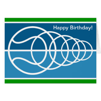 Modern Birthday Card with tennis ball