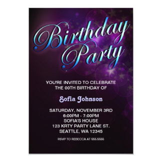 modern birthday invitation with cool design