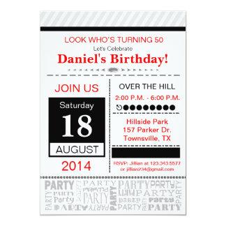 Modern Birthday Party Invitation