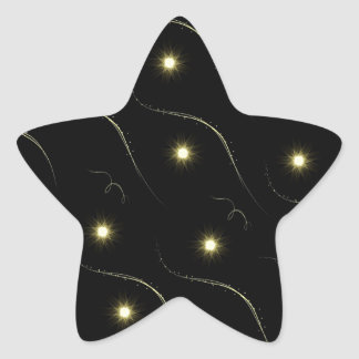 Modern Black And Gold Shooting Stars Star Sticker