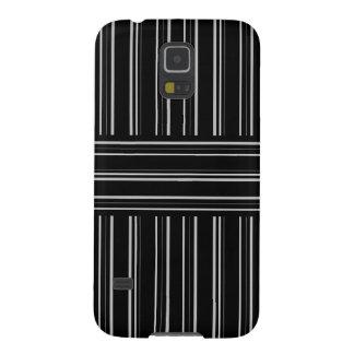 modern black and gray stripes pattern galaxy s5 case