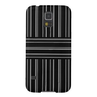 modern black and gray stripes pattern galaxy s5 cover