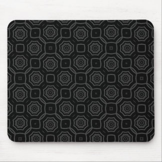 Modern Black and Grey Hexagon Pattern Mouse Pad