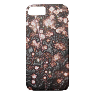 Modern Black and Orange Abstract Design iPhone 7 Case