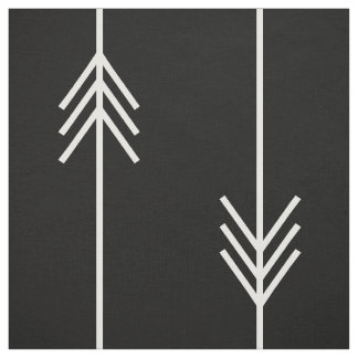 Modern Black and White Arrow Fabric