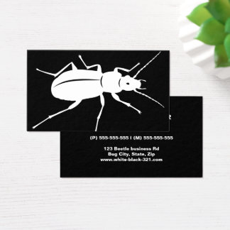 Modern black and white beetle bug professional business card