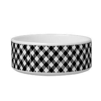 Modern Black and White Check Gingham Pattern Bowl