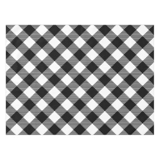 Modern Black and White Check Gingham Pattern Tablecloth
