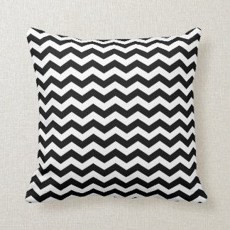 Modern Black and White Chevron Throw Pillow