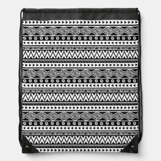 Modern Black and White Cool Aztec Tribal Backpack