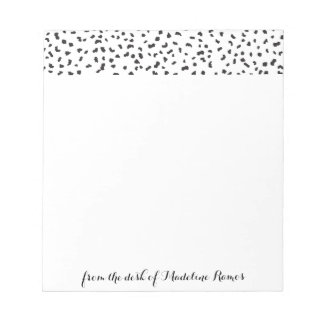 Modern Black and White Dalmatian Spots Notepad
