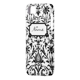 Modern Black and White Damask iPhone 5 Cases