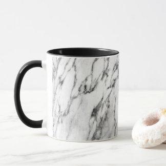 Modern black and white fashion marble pattern mug