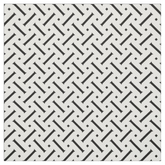 Modern black and white geometrical pattern fabric